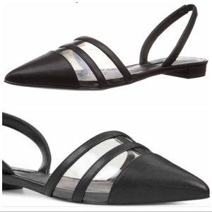 Nine West slingback pointy toe flats